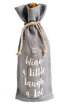 Levtex 'Wine a Little' Bottle Gift Bag available at #Nordstrom