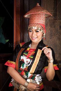 Woman of the Dayaks in Sarawak Borneo