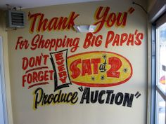 Dad's Paper Signs- Interior Mural