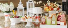 Love this colour scheme. Nice ideas for a little party.   Mother's Day Brunch for HGTV :: Mother's Day Ideas