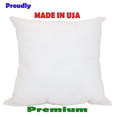 New Pillow Insert Form  Square Euro- Premium ALL SIZES!! Made in USA