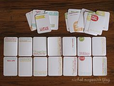 Making your own journal cards with stamps