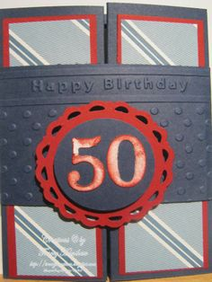 CREATE AND PLAY CLUB - TRACEY HANSHAW: MALE 50th BIRTHDAY CARD IDEAS WITH STAMPIN' UP! THE OPEN SEAS AND DSP