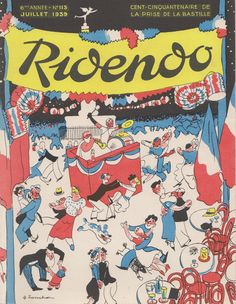 covers by Jacques Touchet for the French magazine Ridendo...