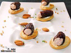 Dátiles rellenos de crema de foie gras y boletus