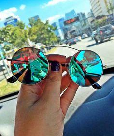 0e962b4005ce6 redondinho - óculos sem marca Óculos De Sol Feminino Espelhado, Oculos De  Sol Espelhado,