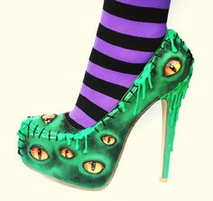 The Bogeyman Halloween High Heels by NixxiRose on Etsy, $190.00