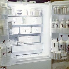 QueenBee16さんの、ミルクカバー,牛乳カバー,冷蔵庫,グラフチェック,ラミネート加工,収納,自作ラベル,ラベル,モノトーン,白黒病,IGやってます,白黒 収納,白黒,キッチン収納,Kitchen,のお部屋写真