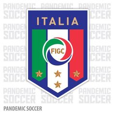 Italy National Soccer Team Azzurri Vinyl Sticker Decal
