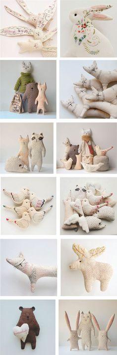 Waldgeschichten - - autour du tissu déco enfant paques bébé déco mariage diy et crochet Fabric Toys, Fabric Crafts, Sewing Crafts, Sewing Projects, Sewing Toys, Sewing Ideas, Fabric Animals, Felt Animals, Softies
