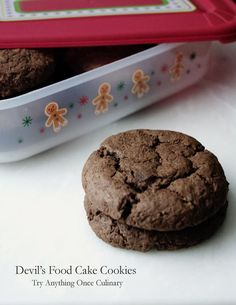 Devil's Food Cake Cookies for #ChristmasWeek