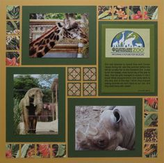 Do you love to create zoo scrapbook pages? We like to take so many photos of the animals - so Mosaic Moments layouts are handy for adding all of our memories. Click to see how we created a more 'mature' looking zoo layout and get scrapbook tips & ideas. #scrapbooktips