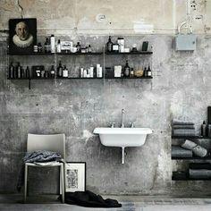 Masculine bathroom via @lottaagaton on Instagram