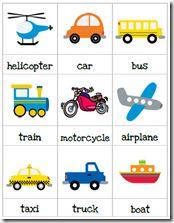 T for transportation preschool pack