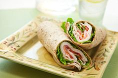 This Turkey Pesto Wrap is an easy, high-protein lunch and just 253 calories. #recipe