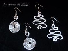 Hammered aluminum earrings