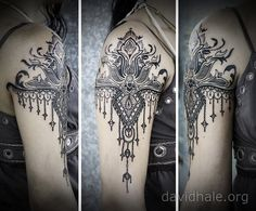 Paisley-and-lace-designs-converge-in-this-beautiful-tattoo-by-artist-David-Hale.jpg (710×588)
