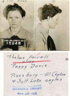 23 Vintage Bad Girl Mugshots and one from Contra Costa County no less.