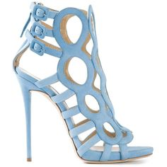 Giuseppe Zanotti Design cut out strappy sandals (1,015 CAD) found on Polyvore