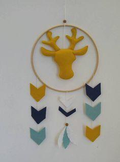 Tribal Theme Nursery Mobile Aztec Decor Deer Crib Woodland Uni Baby