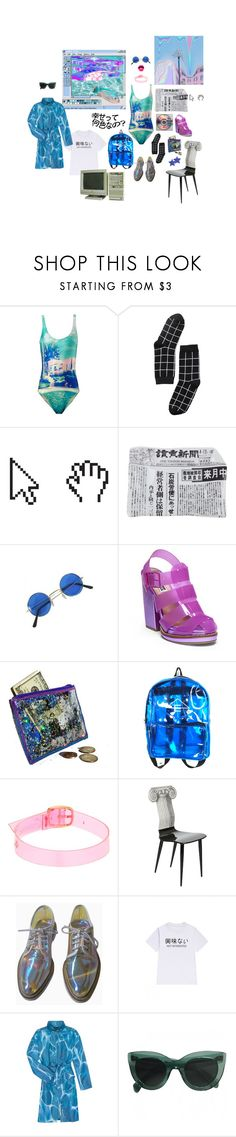 """dissociation ft. vaporwave"" by sophididoo ❤ liked on Polyvore featuring We Are Handsome, Monki, Fornasetti, Steve Madden, Gemma Lister, WithChic, agnès b., vent and vaporwave"