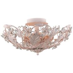 "Crystorama Abbie Collection Blush 16"" Wide Ceiling Light"