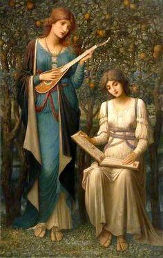 When Apples were Golden ~ John Melhuish Strudwick ~ (English: 1849-1884)