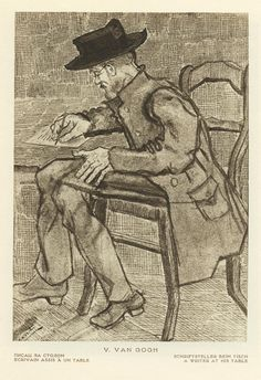 Writer at his desk Vincent van Gogh