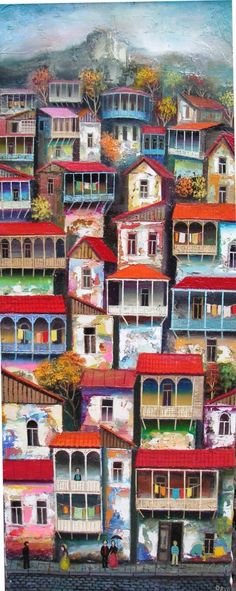 David Martiashvili, modern art, naive painting.