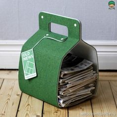 [DIY] This handmade letter box is made of recycled carpet, unbelievable?