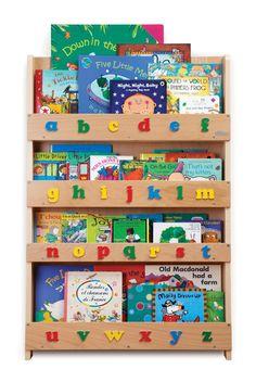 Tidy Books - Bibliothèque avec lettres minuscules - Bois naturel