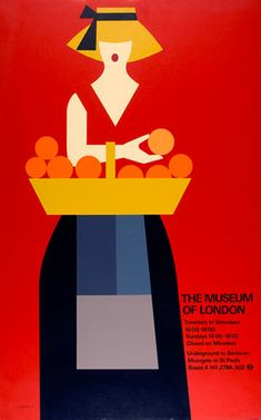 Tom Eckersley poster for The Museum of London.