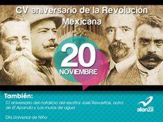 20 de noviembre  CV aniversario de la Revolución Mexicana