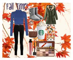 """""""Fall Time Outfit!🍁🍂"""" by zcakestyles56 on Polyvore featuring WALL, WearAll, J Brand, UGG Australia, Aéropostale, Casetify, Jouer and Too Faced Cosmetics"""
