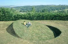 Grassy Inclines Embedded in the Ground by Tanya Preminger Throw the Earth Off Balance (Colossal) Land Art, Take Out Containers, Journal Du Design, Colossal Art, Outdoor Playground, Outdoor Settings, French Artists, Art Festival, Artists Like