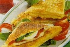 Opečené toasty s mozzarellou - Recepty.cz - On-line kuchařka - fotografie 1 Mozzarella, Sandwiches, Tacos, Toast, Mexican, Ethnic Recipes, Food, Essen, Meals