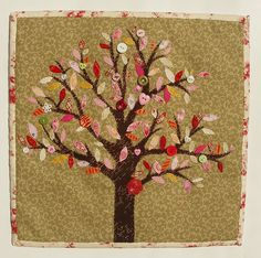 Idea for family tree quilt