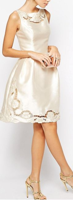 openwork embroidered dress