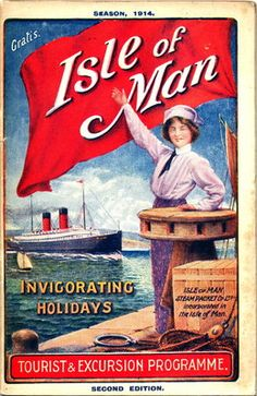 The Isle of Man Steam Packet Co.'s Tourist & Excursion Programme Season Official Guide Wall Art & Canvas Prints by Isle of Man Steam Packet Co. Posters Uk, Railway Posters, Poster Prints, Tourism Poster, Tourist Map, Manx, Isle Of Man, Vintage Travel Posters, British Isles
