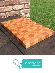 Handcrafted Cherry and Maple Wood End Grain Reversible Butcher Block Cutting Board Chopping Block from The Practical Plankist https://www.amazon.com/dp/B01B1W1ROI/ref=hnd_sw_r_pi_awdo_5gMHybWNBNVC5 #handmadeatamazon