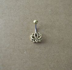 Lotus Belly Ring, Belly Button Ring, Flower Belly Ring, Belly Piercing, Piercing