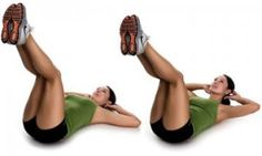 Legs up crunches - works upper and lower abs.
