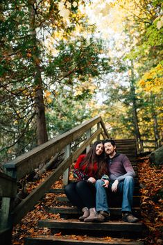 This newly engaged couple are the perfect subject for such a lovely park. Autumn Engagement Photos at Pink Lake, QC Fall Engagement, Engagement Session, Engagement Photos, Ottawa Valley, Pink Lake, Photoshoot, Autumn, Park, Couple Photos