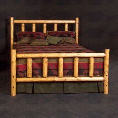 Each piece of the Alpine #logbed is hand hewn or draw knifed to give it its unique character #rusticbedding #rusticfurniture   http://www.santaferanch.com/