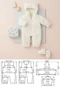 Overall mit Kapuze und Booties - Strickmuster . - - Overall mit Kapuze und Booties - Strickmuster . Baby Knitting Patterns, Sewing Patterns For Kids, Knitting For Kids, Sewing For Kids, Afghan Patterns, Sewing Diy, Free Knitting, Baby Boy Outfits, Kids Outfits