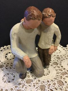 A personal favorite from my Etsy shop https://www.etsy.com/listing/510310294/willow-tree-father-and-son-figurine