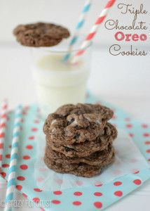 Triple Chocolate Oreo Cookies - Crazy for Crust