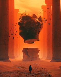 Fantasy Concept Art, Dark Fantasy Art, Dark Art, Cyberpunk Kunst, Post Apocalyptic Art, Fantasy Kunst, Environment Concept Art, Science Fiction Art, Fantasy Landscape