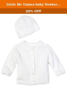 325a2552d Little Me Unisex-baby Newborn Lovable Cable Sweater, White, 9 Months. 100