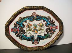 Vintage Daher Decorated Ware Metal trays by ALEXLITTLETHINGS